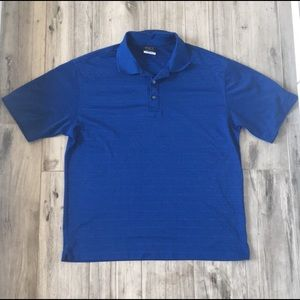 Nike Golf Blue Polo Shirt DRI-FIT Size M